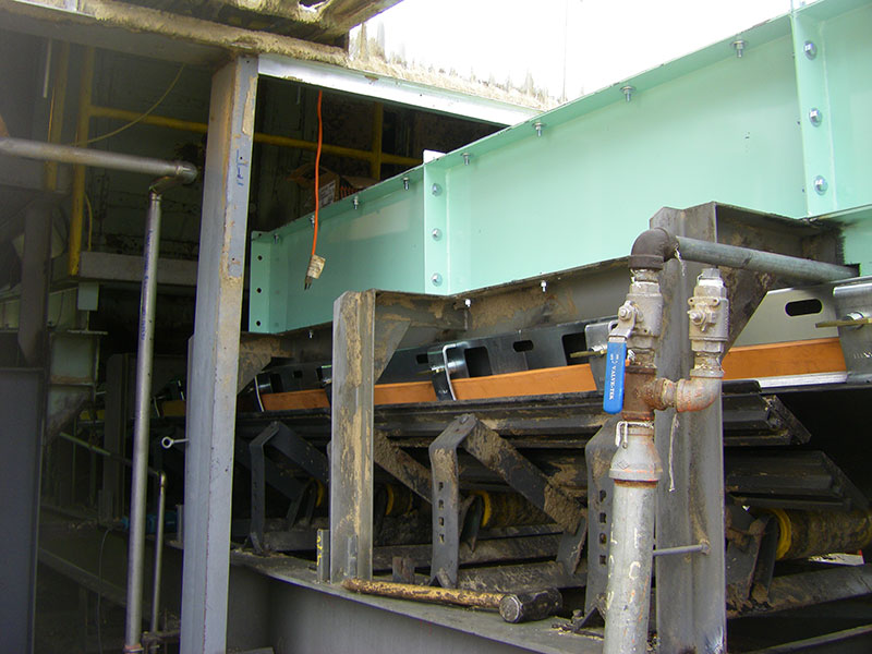 Chip Conveyor Dust Abatement